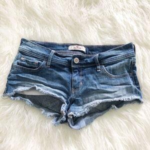 Hollister | Low Rise Cutoff Denim Shorts Size 27